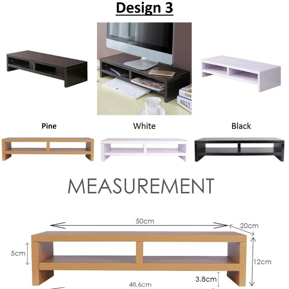 Solid Wood Computer Standing Table / Computer Monitor Table / Computer Monitor Stand - Design 3