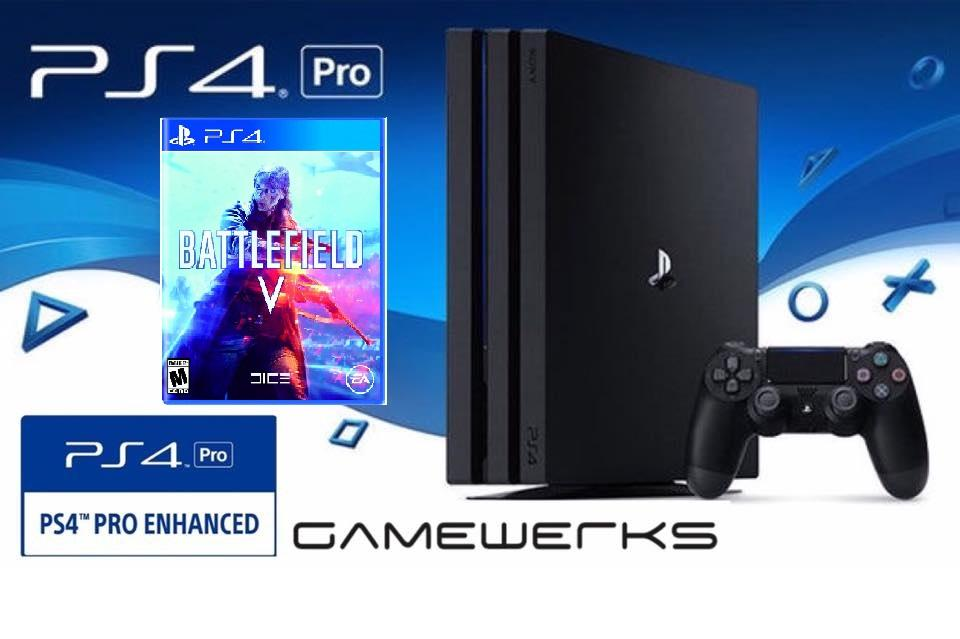 PS4 PRO 1TB Battlefield V Game Bundle [Official Local 15 Months Warranty]