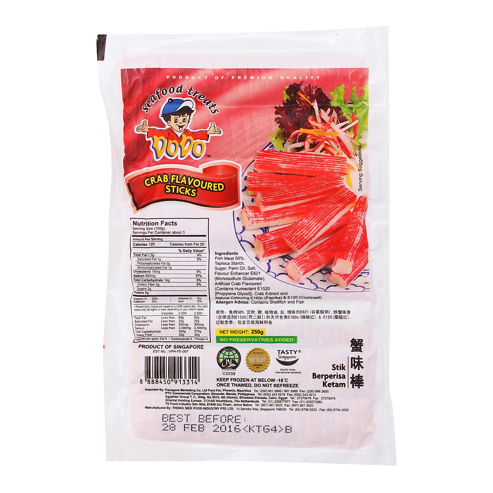 Dodo Crab Flavored Sticks - Frozen By Redmart.