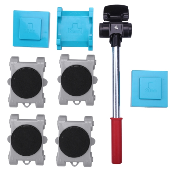 8Pcs/Set Moving Heavy Object Handling Tool Household Furniture Mobile Tool Heavy Object Mover Plastic Moving Tools Removable Portable Home Tool