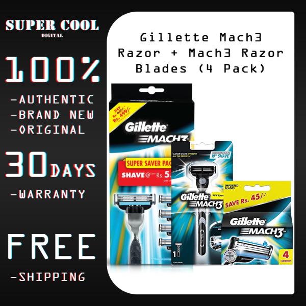 Buy Gillette Mach3 Razor For Men with Mach3 Razor Blades ( 4 Pack ) Singapore