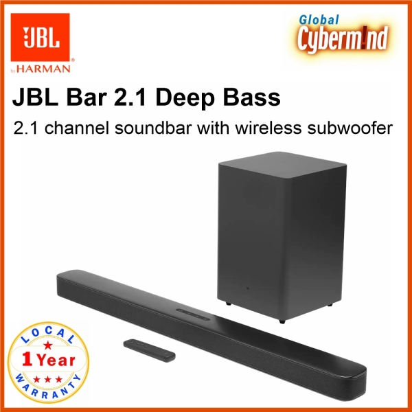 JBL Bar 2.1 Deep Bass | 2.1 channel soundbar with wireless subwoofer (Brought to you by Global Cybermind) Singapore