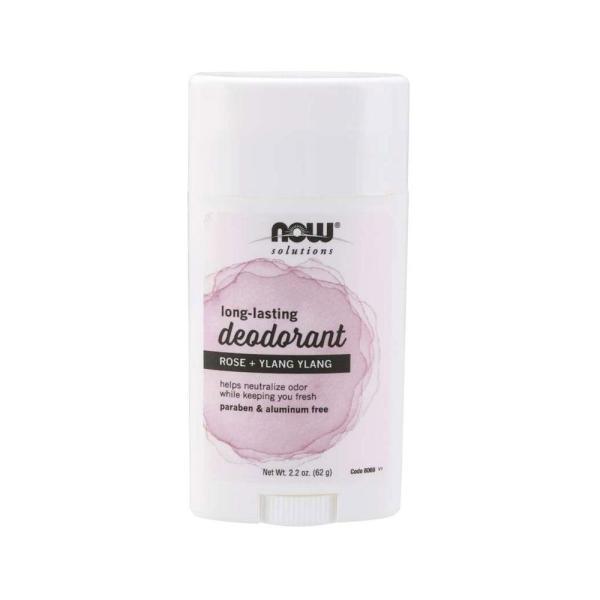 Buy Now Foods, Solutions, Long Lasting Deodorant, Rose + Ylang Ylang, 2.2 oz (62 g) Singapore