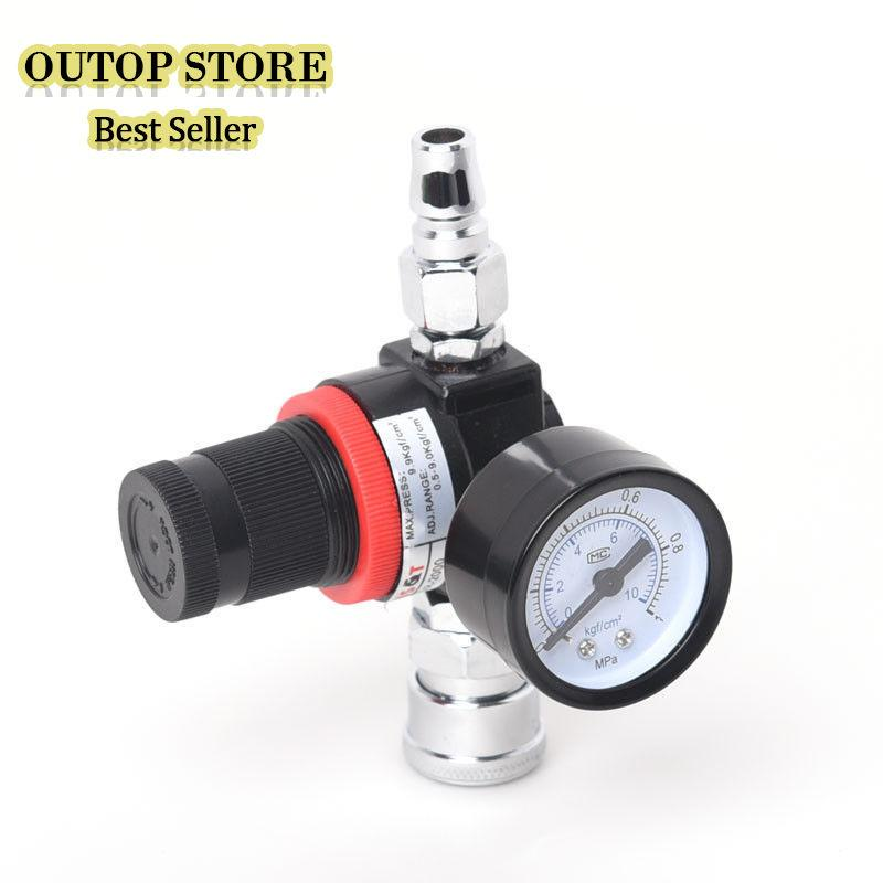 OUTOP Spray Mashine Regulator Air Compressor Pressure Gauge 0-10BAR Regulating Valve