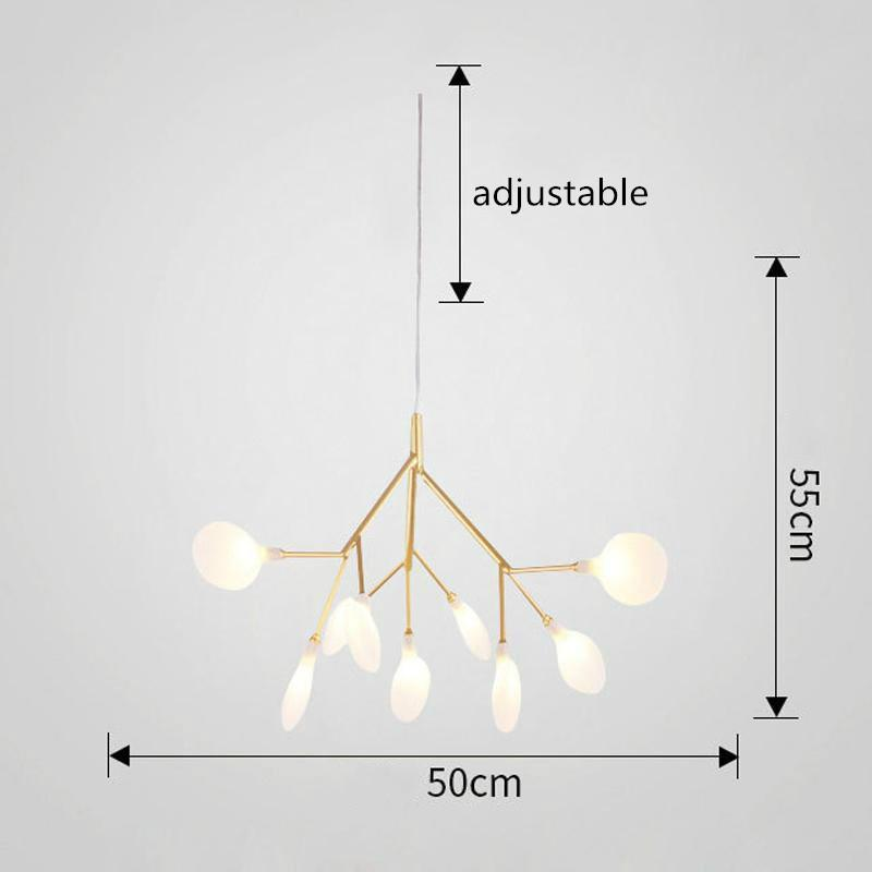 9 Bulbs Firefly Chandelier Postmodern Creative Ceiling Light For The Restaurant Bedroom Living Room
