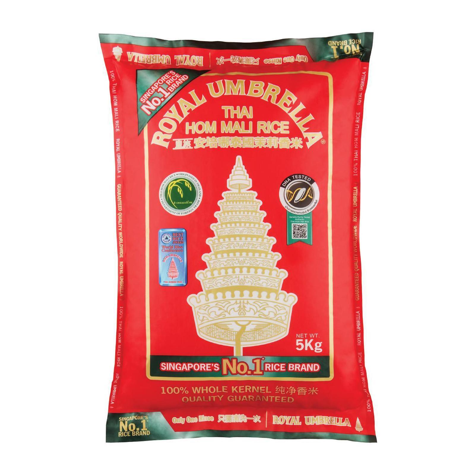 ROYAL UMBRELLA Thai Hom Mali Fragrant Rice 5kg