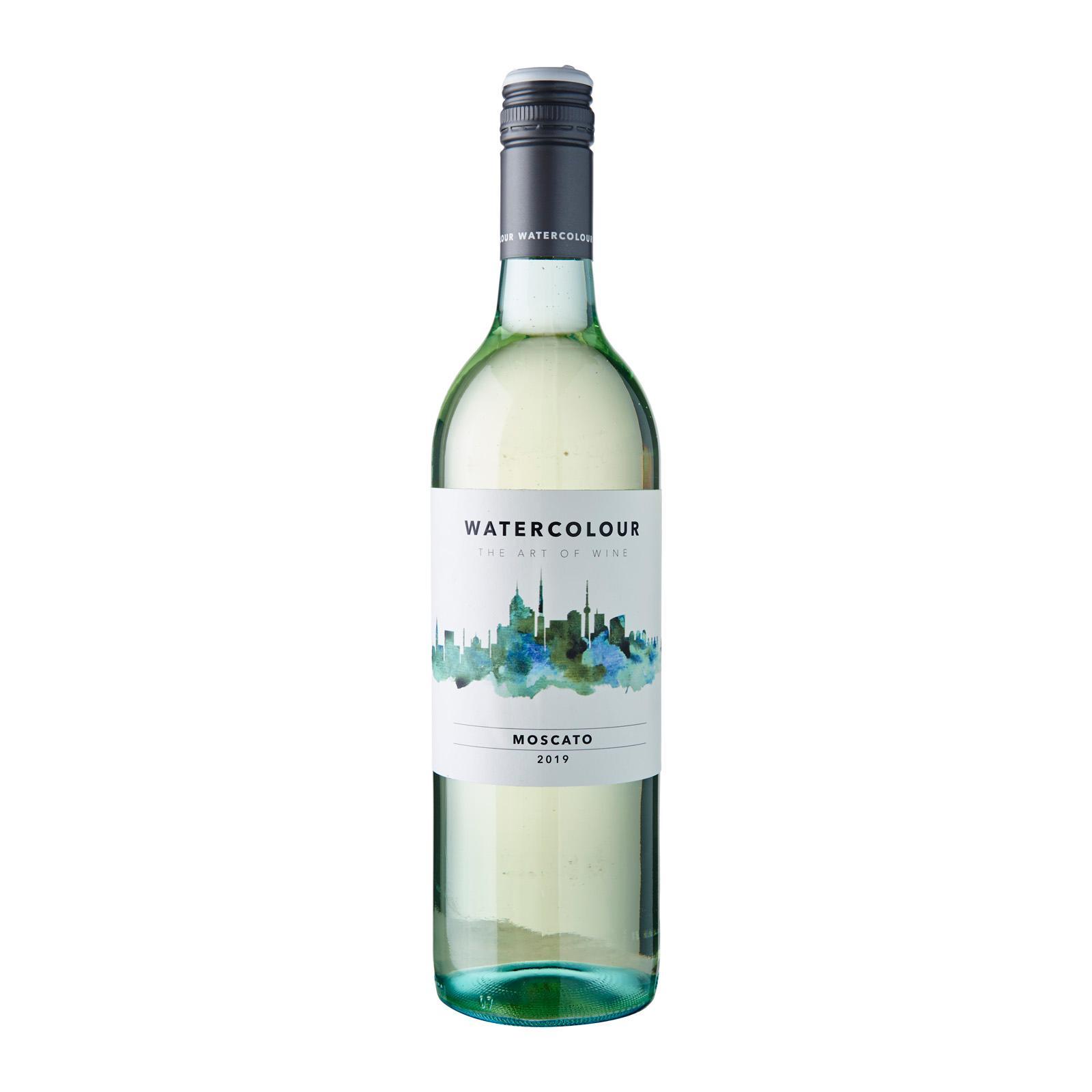 Watercolour Moscato White Wine Australia