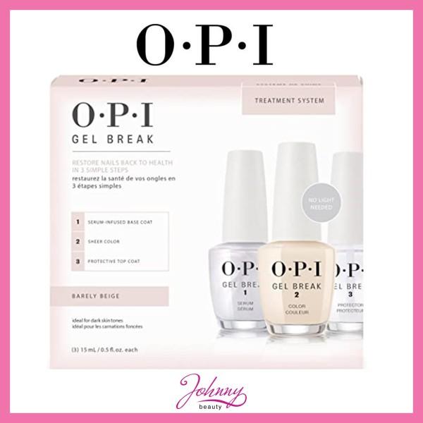Buy OPI Gel Break Treatment System TOP COAT - BASE COAT - PROPERLY PINK - BARELY BEIGE Singapore