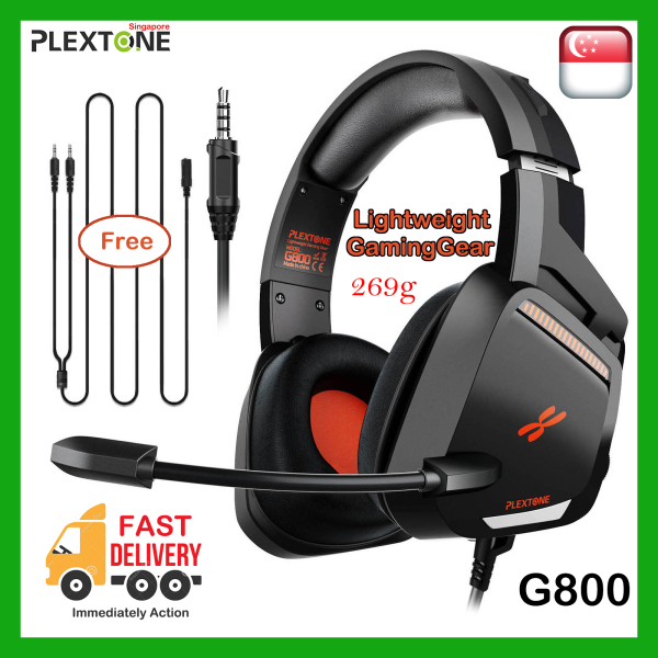 【1 Year SG WARRANTY】PLEXTONE G800 Super  Lightweigt Gaming Gear with Extra BASS