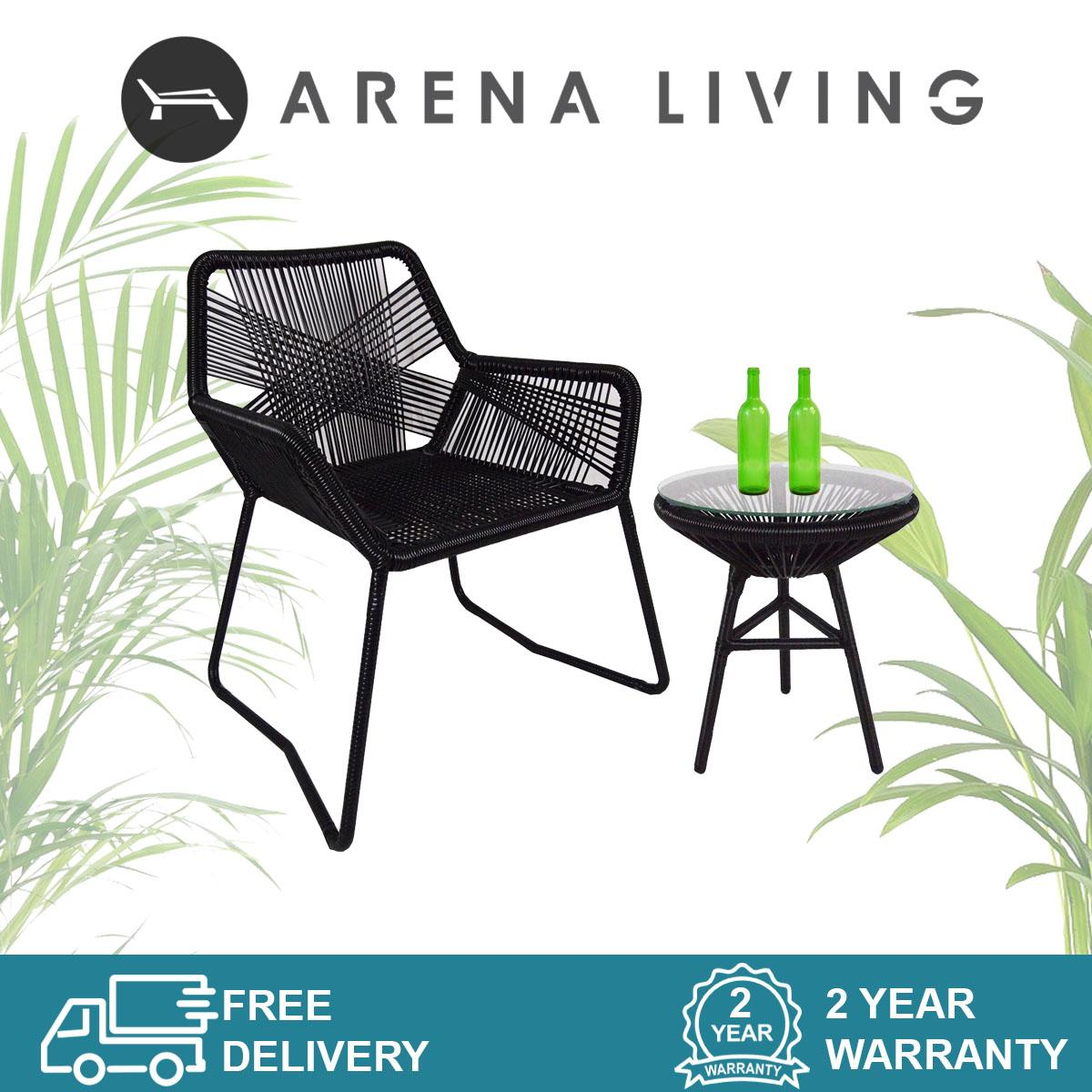 Bay 1 Chair + 1 Table Set Outdoor Furniture by Arena Living