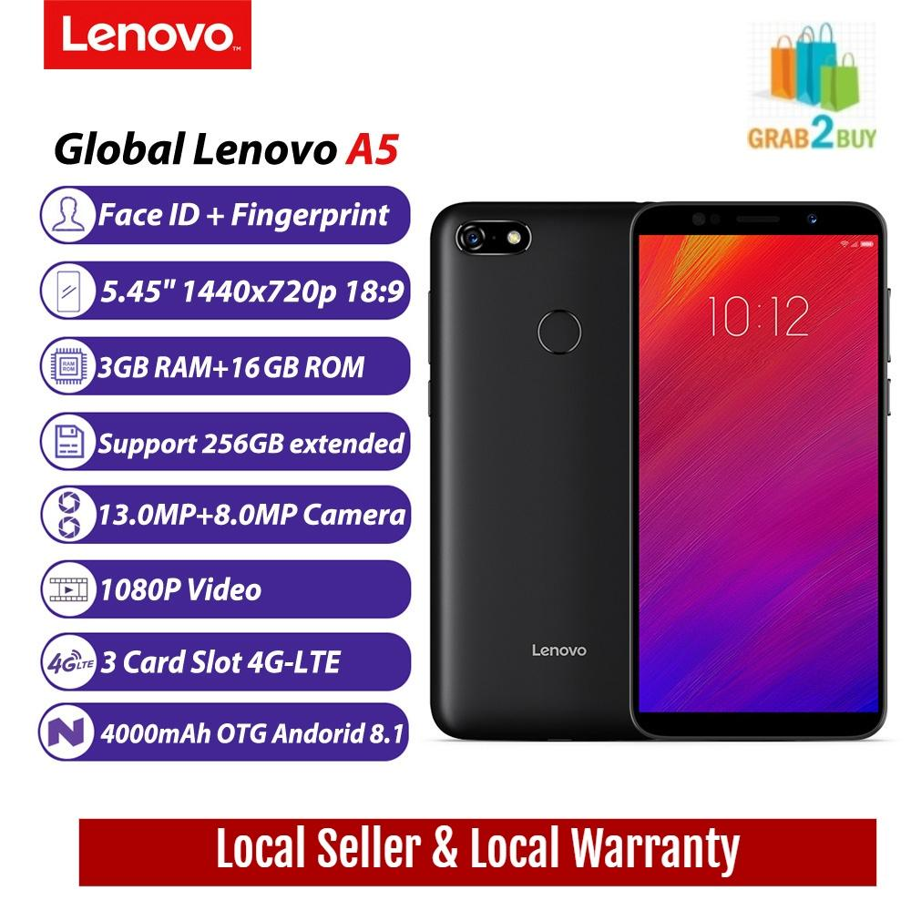 Lenovo A5 Latest Mobile 3GB RAM / 16GB ROM Face ID and Finger Print