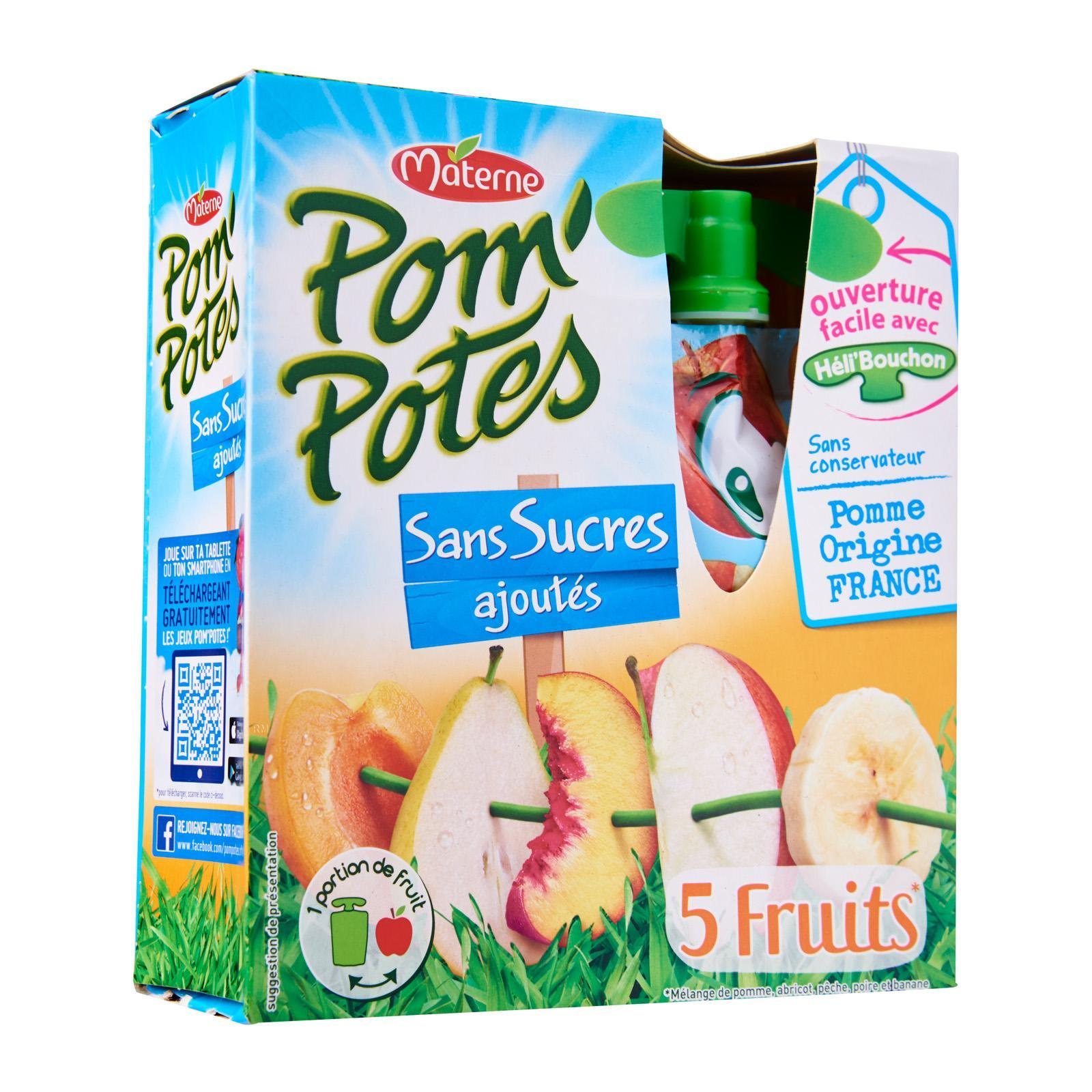 Materne Pom'Potes 5 Fruits Compote With No Added Sugar