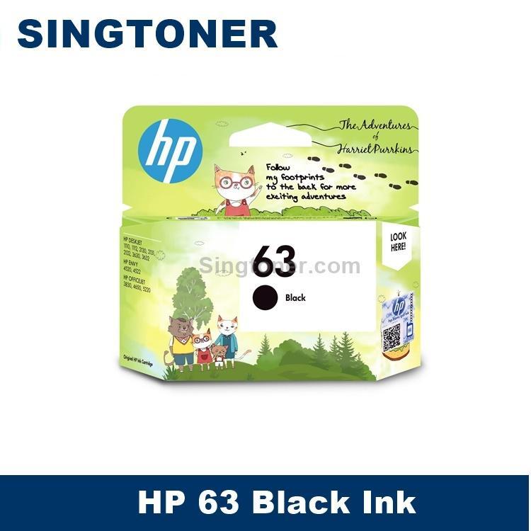 [original] Hp 63 Black Tri-Color Ink Cartridge For Hp Deskjet / Officejet / Envy Printers Hp63 Hp Deskjet 1110 / 1112 / 2130 / 2132 / 3630 / 3632 Hp Envy 4520 / 4522 / Hp Officejet 3830 / 4650 / 5220 By Singtoner.