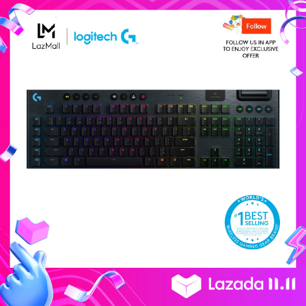 Logitech G915 Lightspeed Wireless RGB Mechanical Gaming Keyboard