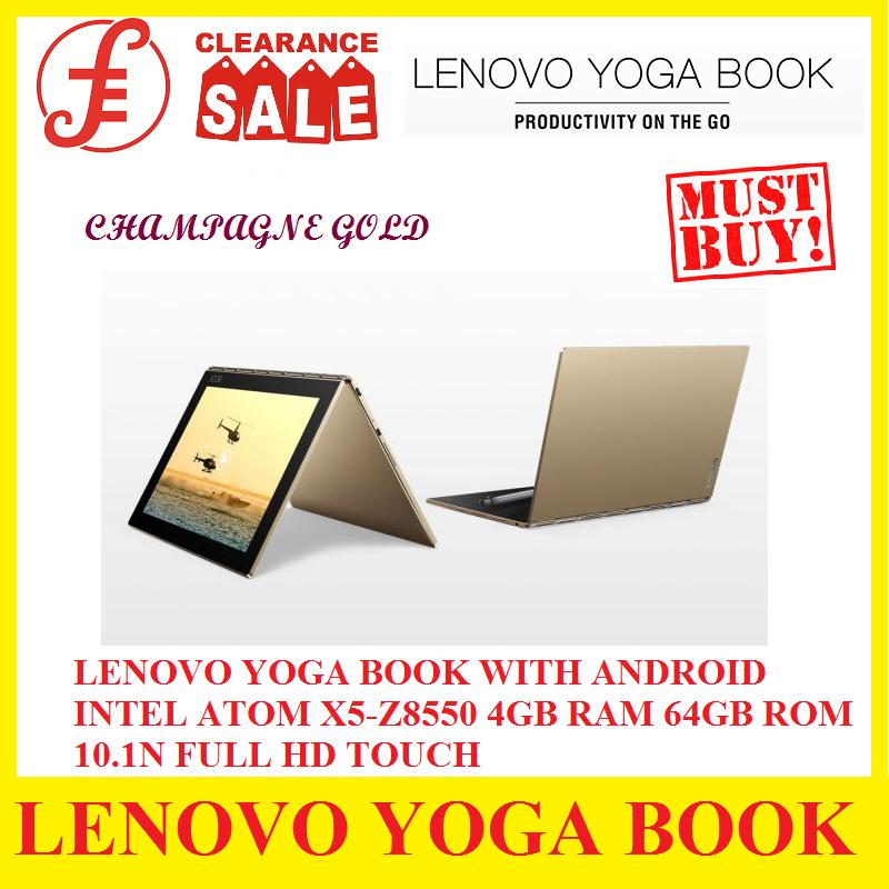 LENOVO YOGA BOOK WITH ANDROID INTEL ATOM X5-Z8550 4GB RAM 64GB ROM 10.1N FULL HD TOUCH (Clearance Sale)