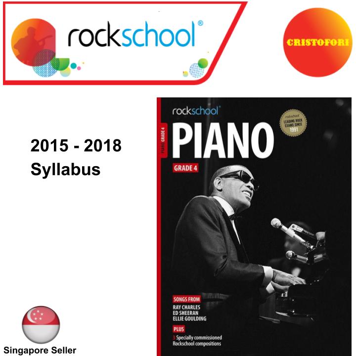 ROCKSCHOOL Piano - Grade 4 (2015 - 2018 Syllabus Book)