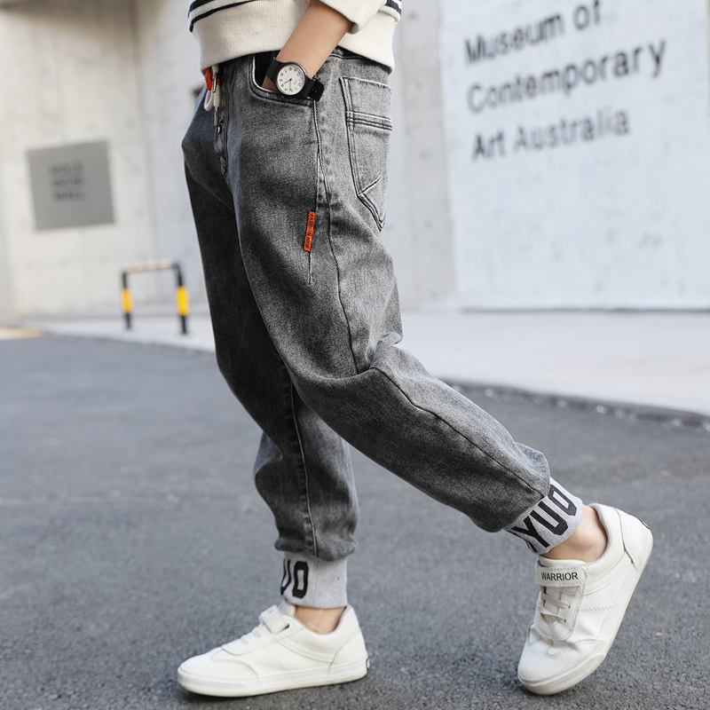 IENENS 4-13 Years Kids Boys Slim Straight Jeans Classic Clothes Bottoms Children Denim Clothing Long Pants Baby Boy Casual Trousers