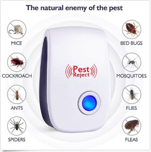 Pest Reject Control Cockroach Mosquito Ants Insect Ultrasonic Repeller Repellent Killer Trap (SG Plug)