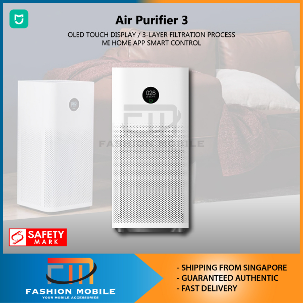 [LATEST] Xiaomi Mijia Air Purifier 3 OLED Touch Screen PM2.5 Formaldehyde Sterilization True HEPA Filter PM 2.5 OLED Touch Display App control Singapore