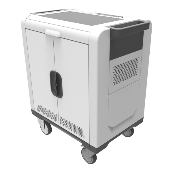 Charging Cart, 32 Device Capacity, Fixed Shelf Type, Cable Management Included, Store, Secure, Sync and Charge - CCT-32 - Flight