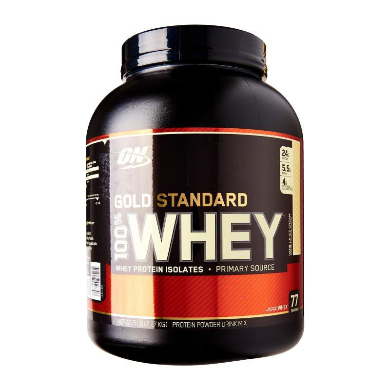 Buy Optimum Nutrition Gold Standard 100% Whey 5 Lbs Vanilla Ice Cream Singapore