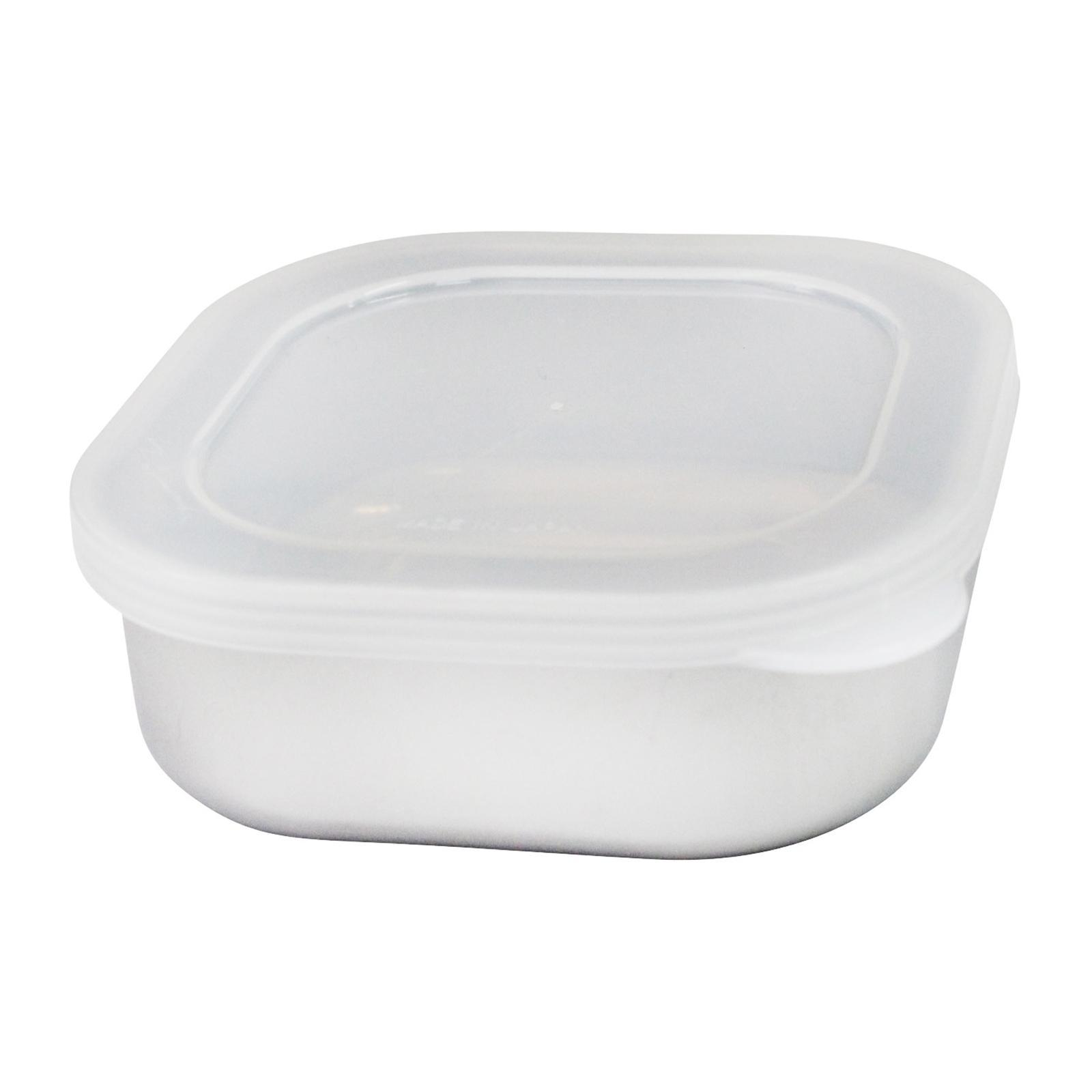 Echo Stainless Steel Food Storage Containers Bowl With Lid - Square 10x10x4(H) CM