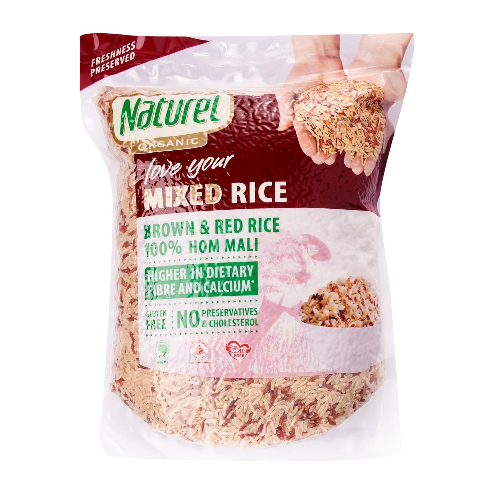 Naturel Organic Mixed Brown and Red Rice