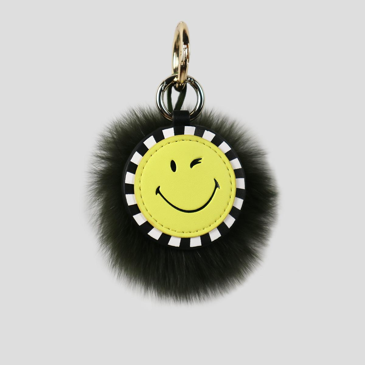 Smileyworld New Style 2018 Women s Bag Cute Smiley Fuzzy Ball Pendant  Accessories Keychain Gift 5471c05ef