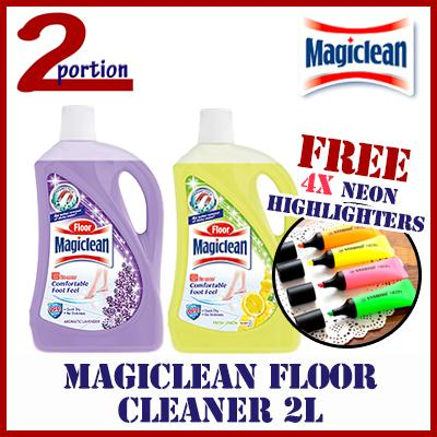 [free 4x Neon Highlighters] Magiclean Floor Cleaner 2l - Lavender By 2 Portion.