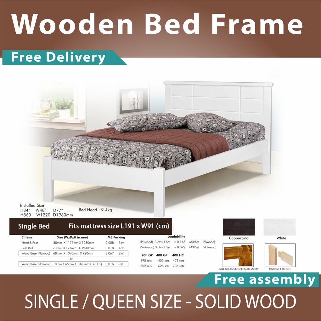 Univonna Solid Wooden Bed Frame WB125