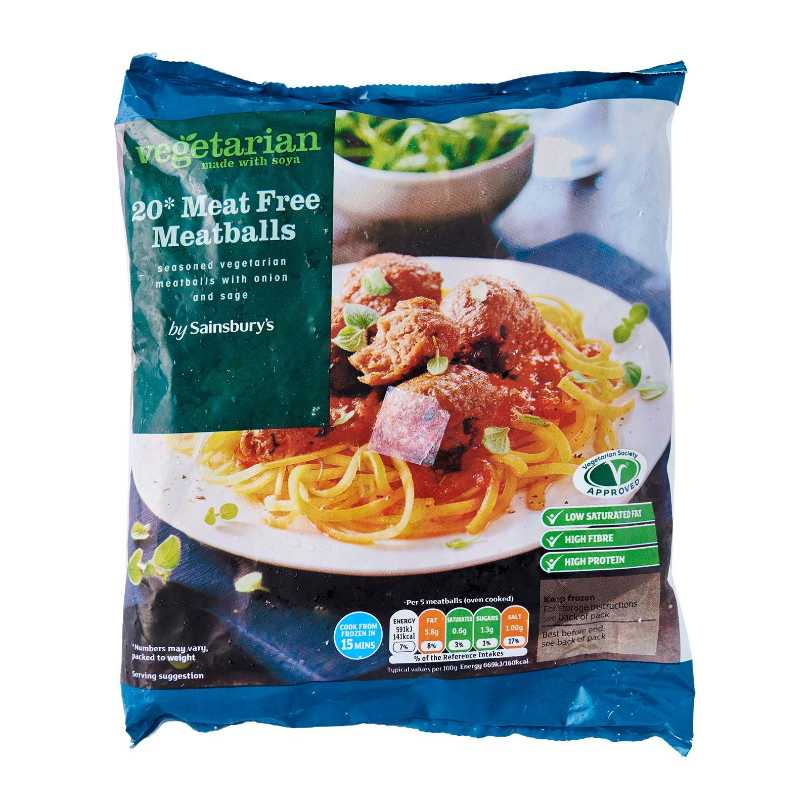 Sainsbury's Meat Free Meatballs - Frozen