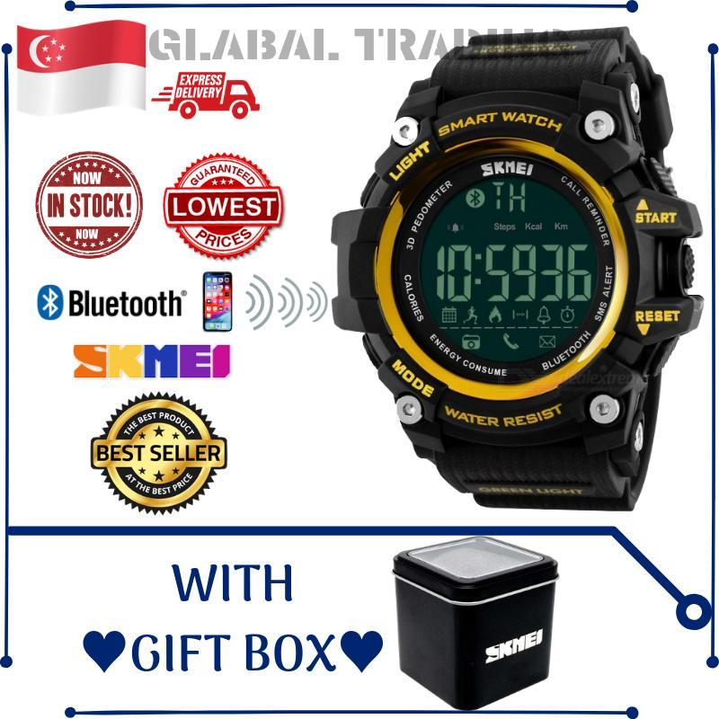 SKMEI 1227 Bluetooth compatible Remote Camera Smart Watch Men Women Fitness Activity Tracker