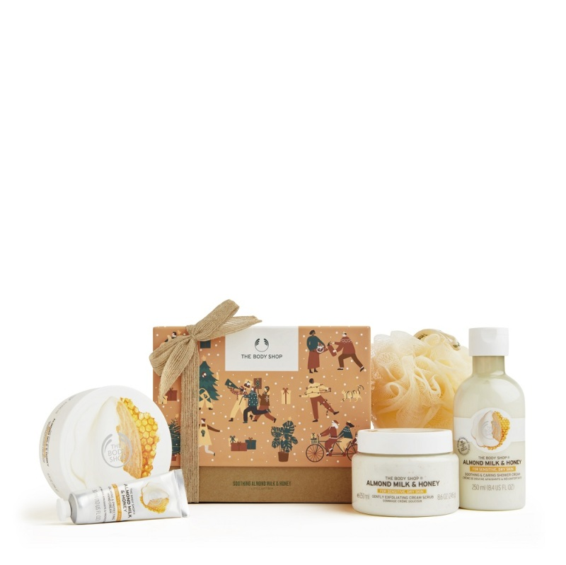 Buy The Body Shop Soothing Almond Milk & Honey Big Gift Box (Christmas Gift Set) Singapore