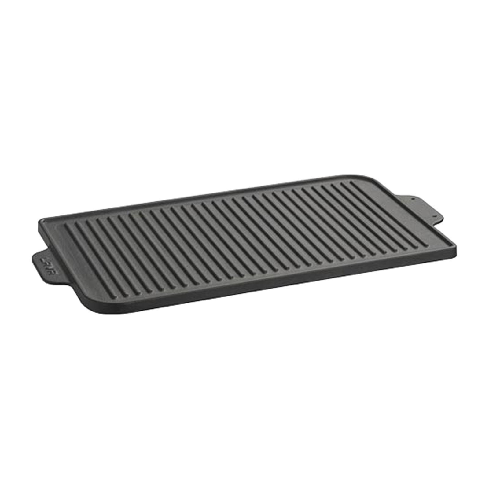 Lava Cast Iron Rectangle Reversible Griddle And Grill Plate 26X47 CM ECO - By ToTT
