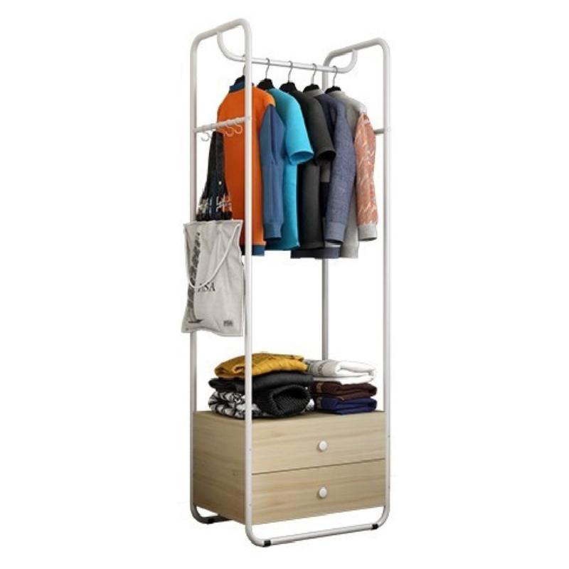 JIJI New Standing Clothes Rack with Drawers LRCR - 04 (Free Installation) - Hallway Entry / Furniture / Coat Racks (SG)
