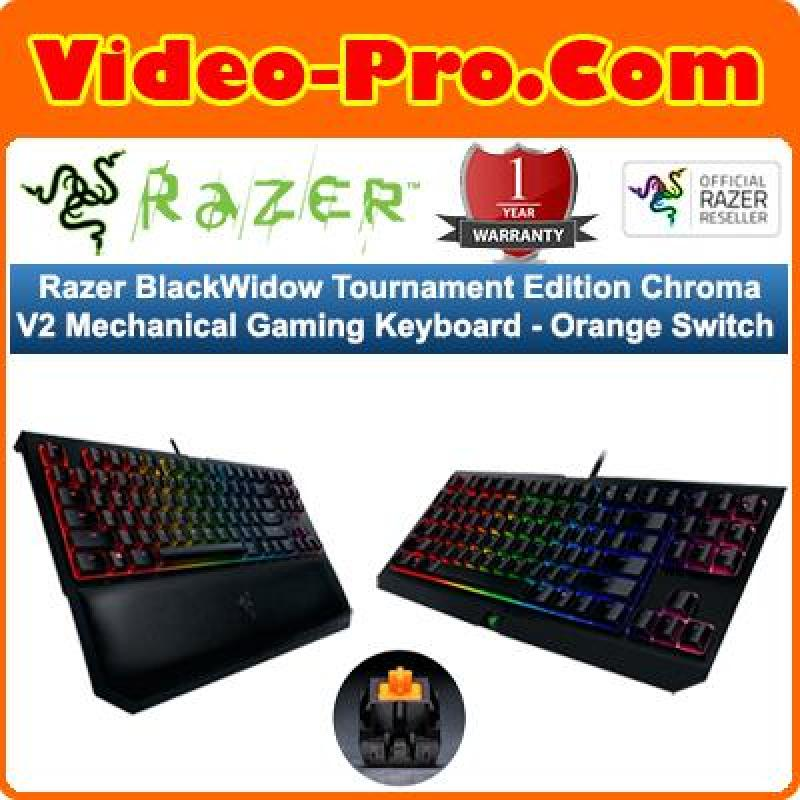 Razer BlackWidow Tournament Edition Chroma V2 Mechanical Gaming Keyboard - Orange Switch RZ03-02190700-R3M1 Singapore