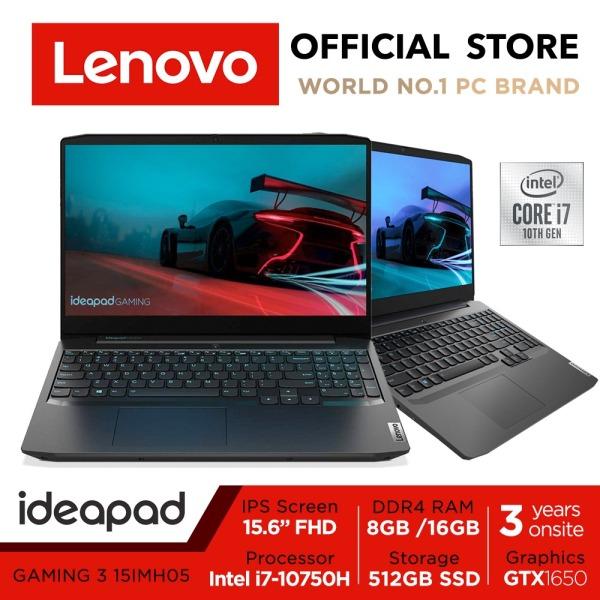 Lenovo IdeaPad Gaming 3i 15IMH05 | 15.6inch FHD IPS | Intel Core i7-10750H | 8GB RAM | 512GB SSD | GTX1650 | 3Y warranty