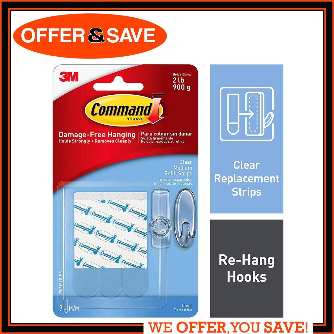 3M Command™ Clear Medium Refill Strips 17021CLR