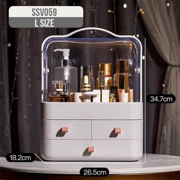 Acrylic big make up box cosmetics table organizer storage container drawer box shelf birthday gift idea SSV059