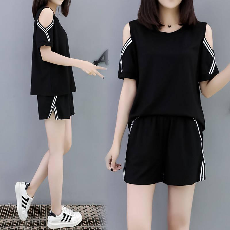 a82aa7454d 2019 Large girl women Large Size dress for women Leisure 200 Jin Set Summer  Korean Style
