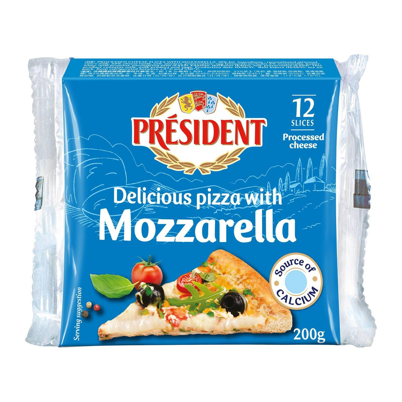 President Special Pizza Mozzarella Cheese Slices