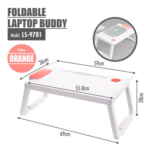 Foldable Laptop Buddy (Orange)