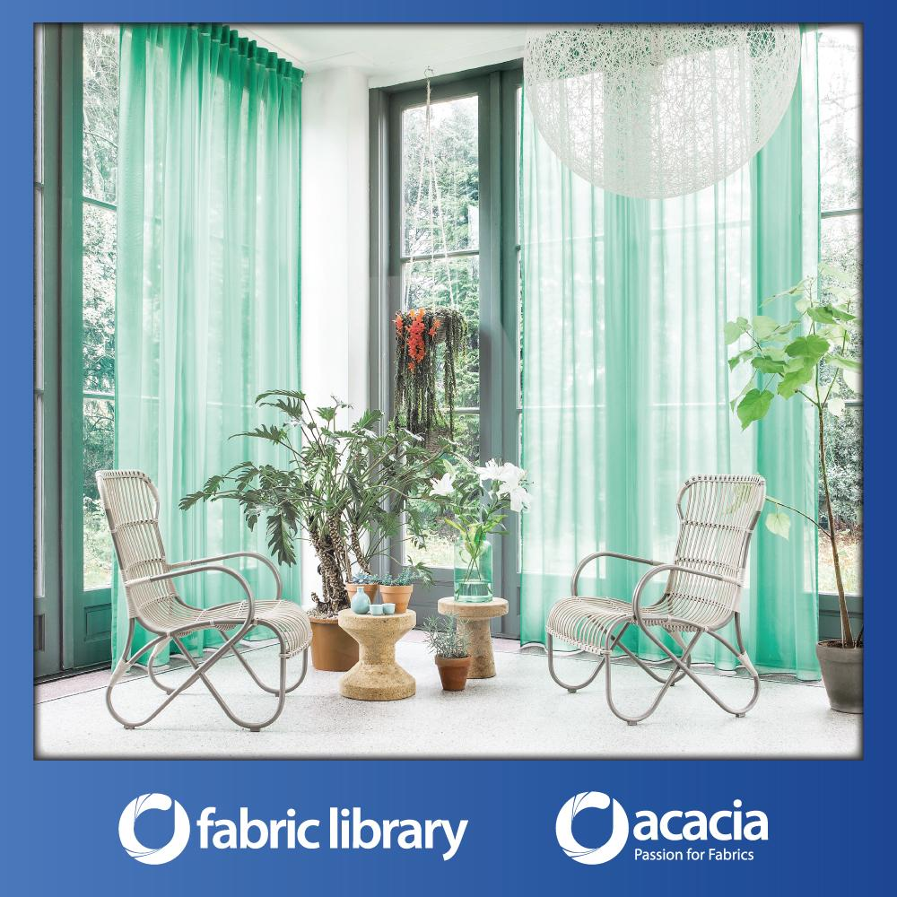Fabric Library (Day) 30 x 102 Window/Sliding Door French Pleat Sheer Curtain - Day x 1 Panel
