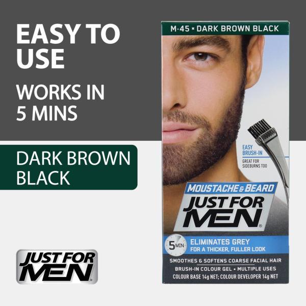Buy Just For Men Brush-In Color Gel for Moustache, Beard and Sideburns - Dark Brown Black Singapore