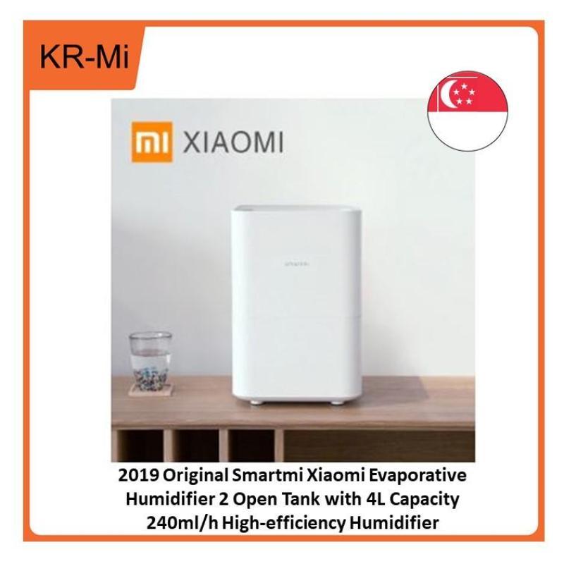 2019 Original Smartmi Xiaomi Evaporative Humidifier 2 Open Tank with 4L Capacity 240ml/h High-efficiency Humidifier Singapore