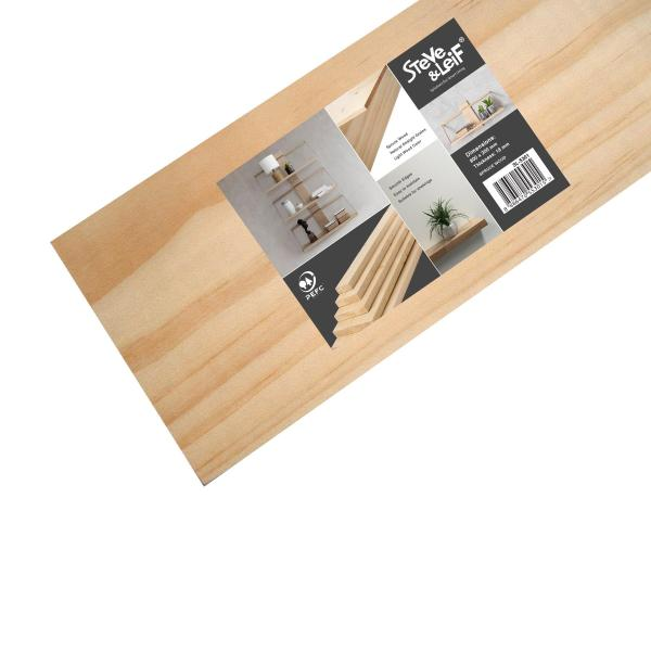 Steve & Leif Solid Wooden Spruce Pine Shelf 80cm (3 Sizes) - DIY Shelving