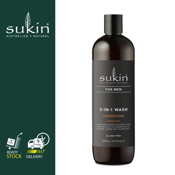 Buy SUKIN 3-IN-1 WASH ENERGISING FOR MEN 500ML Singapore