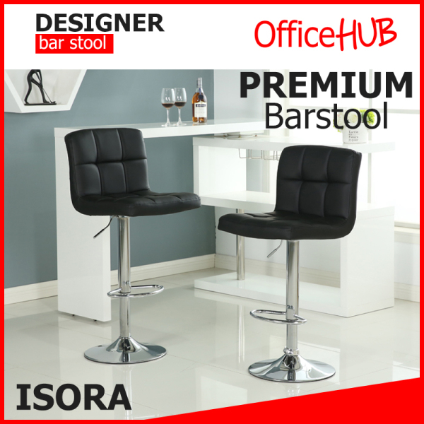 OFFICEHUB ISORA Bar Stools | Chairs ★ SGS Hydraulic Pump ★ Home barstool / Cafe barstool / Office barstool / Pub barstool ★ Adjustable Height BarStool ★ High Stool ★ Sg Seller