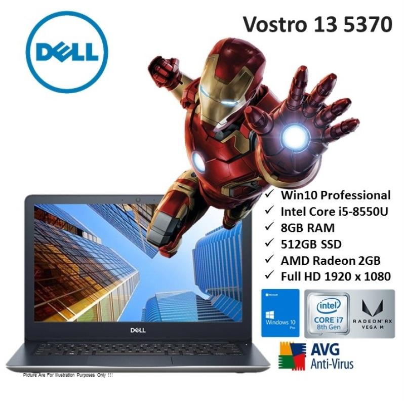 [Demo Units] Dell Vostro 13 5370 core i7-8gen i7-8550u 8gb 512gb ssd 13.3 win10 professional 64bit home & business ultrabook notebook laptop