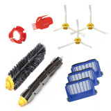 Sale 10 Pcs Replacement Main Brush Side Brush Vac Filter Kit For Irobot Roomba 600 Series 620 630 650 660